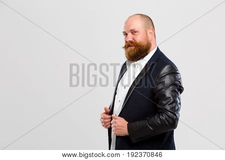 Happy man with ginger beard