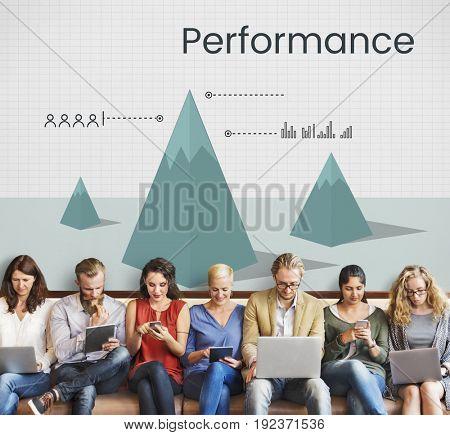 Business progress graph plan