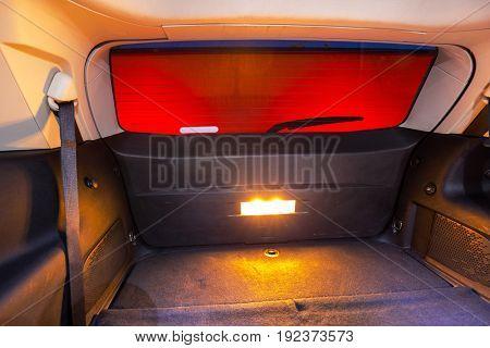 Trunk of a big SUV car