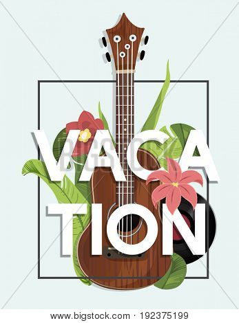 Music recreation guitar chill melody