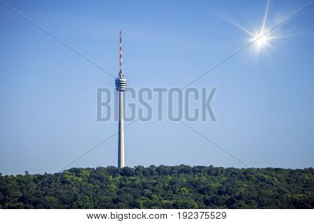 An image of the television radio tower in Stutgart Germany