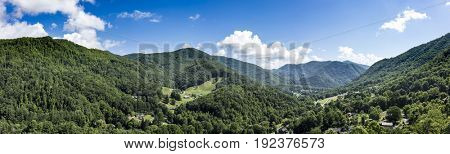 Panorama of Maggie Valley, North Carolina