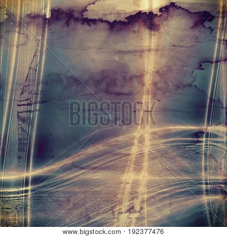 Background in grunge style. With different color patterns: yellow (beige); brown; gray; blue; purple (violet); cyan