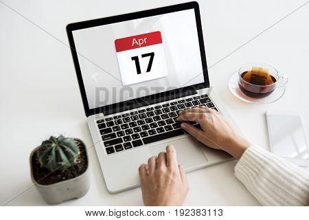 Date Month Calendar Schedule Planner Word Graphic
