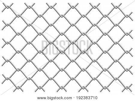 metal mesh fence as a background or object tryde