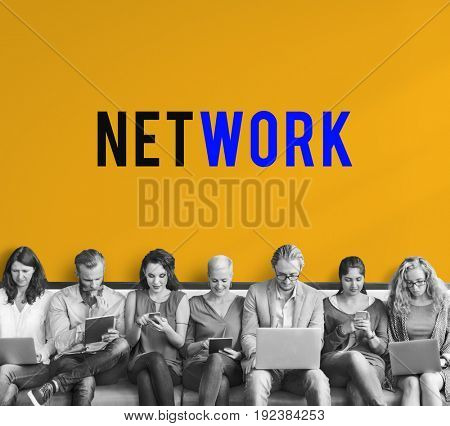 Internet Network Technology Social Platform Digital Word