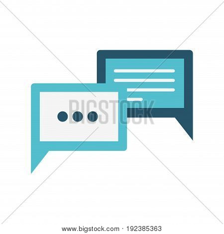colorful silhouette image of rectangle speech dialogues with suspension points vector illustration