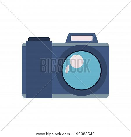 colorful silhouette image of photo camera vector illustration