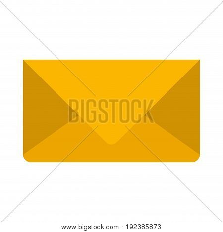 colorful silhouette image of envelope mail in closeup vector illustration