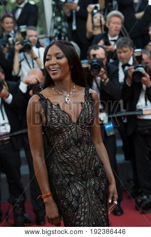 Naomi Campbell attends the 70th Anniversary screening  premiere for at the 70th Festival de Cannes. May 23, 2017 Cannes, France