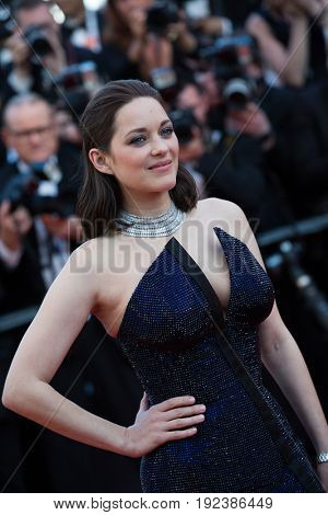 Marion Cotillard attends the 70th Anniversary screening  premiere for at the 70th Festival de Cannes. May 23, 2017 Cannes, France
