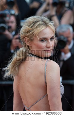 Diane Kruger attends the 70th Anniversary screening  premiere for at the 70th Festival de Cannes. May 23, 2017 Cannes, France