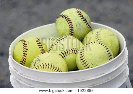 Softballs In Bucket