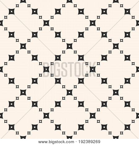 Seamless pattern. Monochrome geometric vector texture with small perforated squares in diagonal grid. Subtle abstract background, repeat tiles. Design pattern, textile pattern, covers pattern, digital pattern, web pattern, decor pattern.