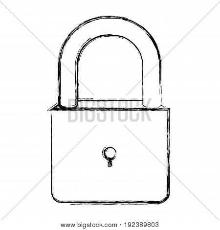 monochrome blurred silhouette of padlock icon vector illustration