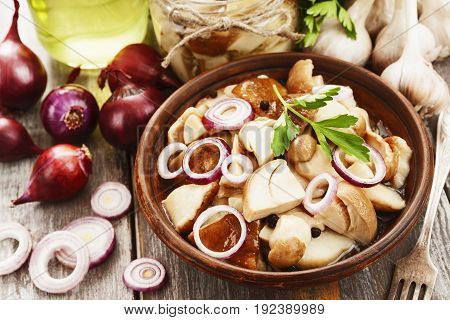 Boletus, Pickled Mushrooms