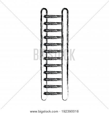 monochrome blurred silhouette of ladder vector illustration