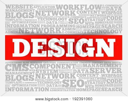 DESIGN word cloud collage , business concept background