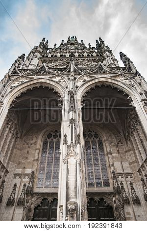 Detail of the entrance gate in St. John's Cathedral Den Bosch the Netherlands