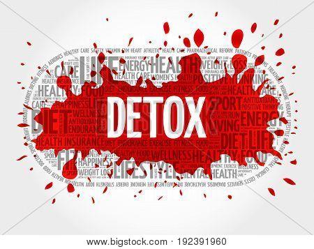 DETOX word cloud , fitness health concept