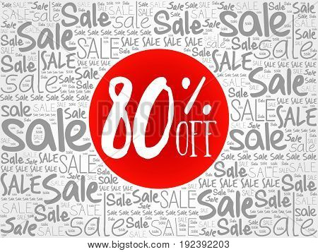80% Off Sale Words Cloud