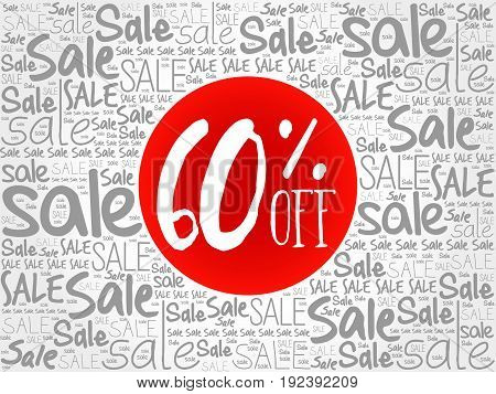 60% Off Sale Words Cloud