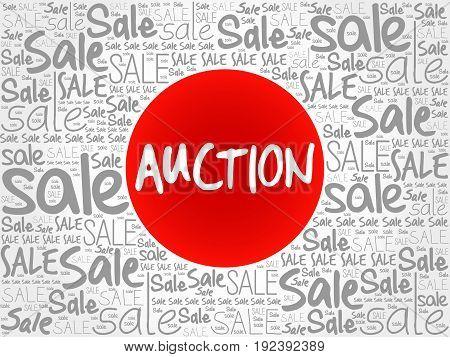 AUCTION words cloud business , concept background