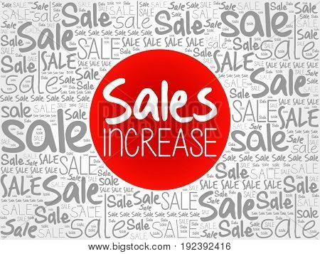 Sales Increase Words Cloud