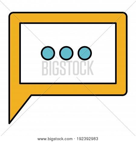 color sections silhouette of square dialogue in closeup vector illustration