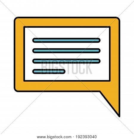 color sections silhouette of rectangular dialogue in closeup vector illustration