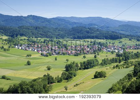An image of the village Sexau in Germany