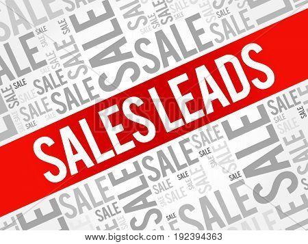 Sales Leads Words Cloud