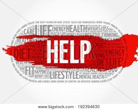 Help Word Cloud, Fitness