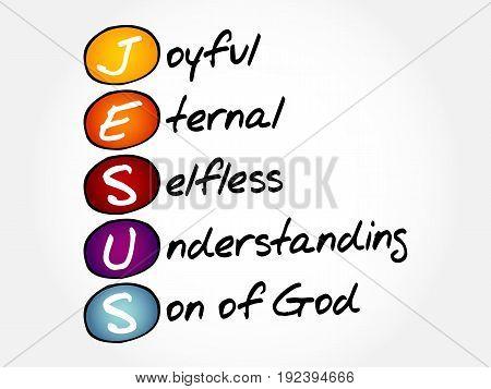 Jesus Acronym Concept