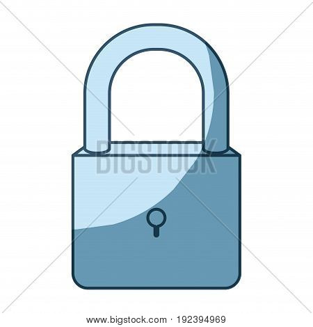 blue shading silhouette of padlock icon vector illustration