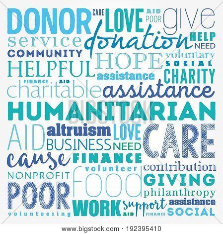 Humanitarian Word Cloud Collage
