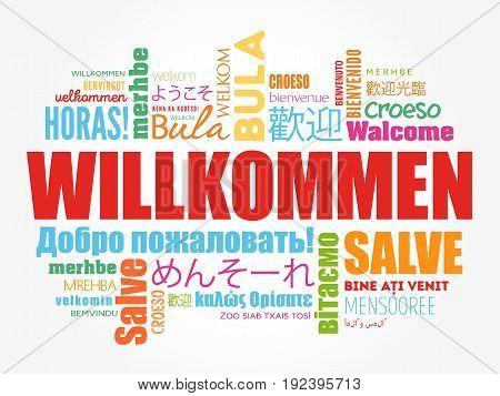 Willkommen, Welcome In German