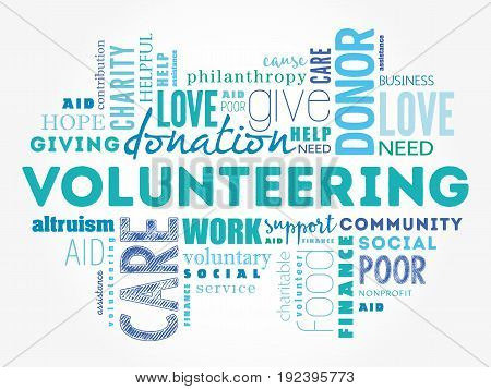 Volunteering Word Cloud Collage