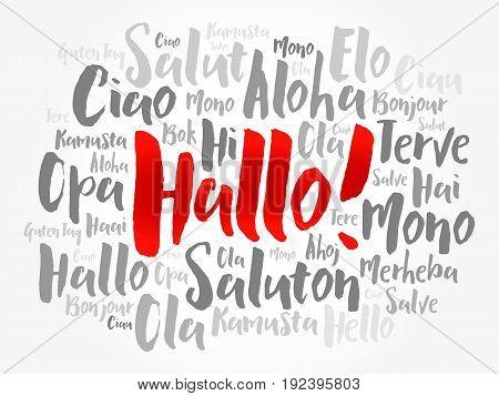 Hallo (hello Greeting In German)