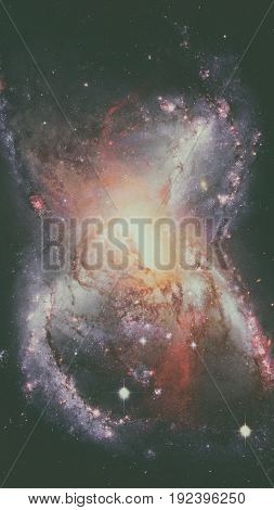 Galaxy And Nebula. Space Background. Elements Of This Image Furnished By Nasa