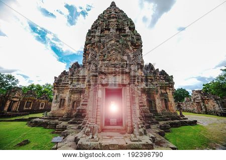 Panomrung stone castle ancient castle in Buriram Thailand famous history travel place