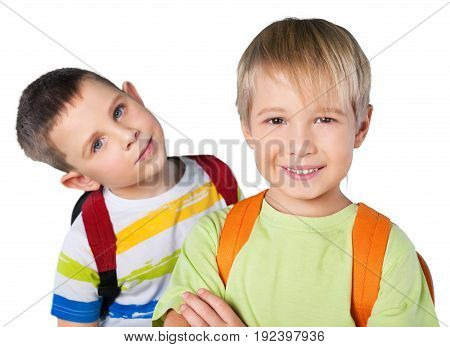 Happy boys school schoolboys fun background small