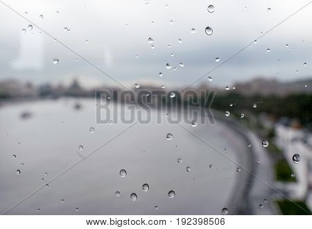 Raindrops on the train window , ,