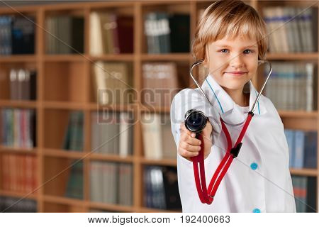Stethoscope game play fun small happy person