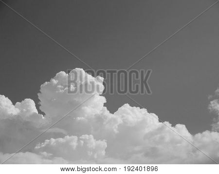 BLACK AND WHITE PHOTO OF CLOUDY SKY IN DAYTIME, STOCK PHOTO