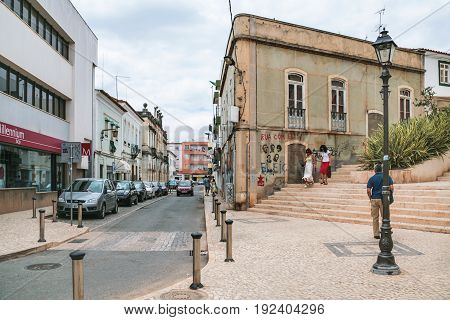 Street Rua Samora Barros In Sives City