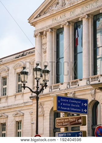 Facade Of Palais De Justice In Nice City
