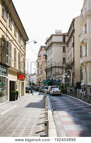 Street Rue De France In Nice City