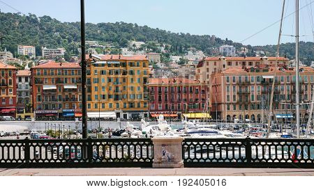 View Of Old Port From Quay In Nice City