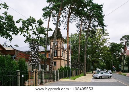 Residential Country Houses In Jurmala In Autumn